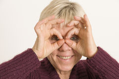 Human binocular Stock Photography
