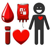 Human and blood donation Stock Photos