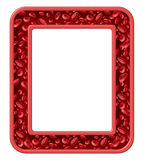 Human Blood Frame. And healthy circulation border design health symbol with red cells flowing through a rectangular vein from the human circulatory system as a Stock Photos