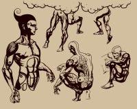 Human bodies. Additional vector format Illustrator 8 eps Stock Photos