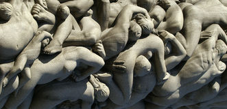 Human bodies - sculpture Stock Photography