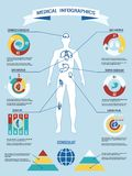 Human body medical infographics Stock Photography