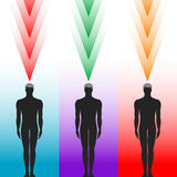 Human body silhouette Stock Images