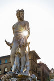 Human body statue in Florence. Florence, Italy stock photos