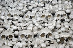 Human bone. Human skulls and bones. Photo from Kutna Hora in Czech republic Stock Photography