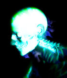 Human Bones 4. An abstract medical x-ray of a skeleton. A suitable medical or Halloween based image Royalty Free Stock Photo