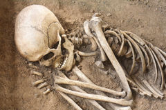Human bones. (he is sleeping for ever Royalty Free Stock Images