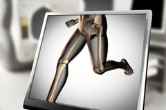 Human bones radiography scan image stock illustration