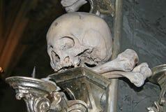 Human bones in Sedlec Ossuary, Kostnice cemetery church of All Saints in Sedlec, Kutna Hora, Czech Republic Stock Photo