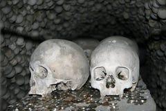 Human bones in Sedlec Ossuary, Kostnice cemetery church in Sedlec, Kutna Hora, Czech Republic Stock Photo
