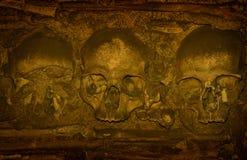 Human bones and skulls, Chapel of Bones in Evora Royalty Free Stock Photos