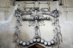 Human bones and skulls in the Sedlec Ossuary. Stock Photos