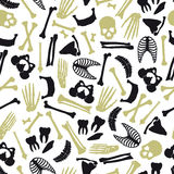 Human bones symbols seamless pattern Stock Photo