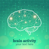 Human brain activity Stock Photo
