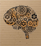 Human brain build out of cogs and gears Royalty Free Stock Photos