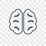 Human Brain concept vector linear icon isolated on transparent b stock illustration