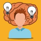 Human brain creative ideas. Graphic design,  illustration eps10 Stock Images