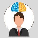Human brain creative ideas. Graphic design,  illustration eps10 Royalty Free Stock Image