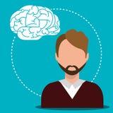 Human brain creative ideas. Graphic design,  illustration eps10 Stock Photography