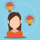 Human brain creative ideas. Graphic design,  illustration eps10 Royalty Free Stock Photo