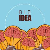 Human brain creative ideas. Graphic design,  illustration eps10 Stock Image