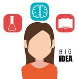 Human brain creative ideas. Graphic design,  illustration eps10 Stock Photos
