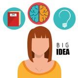 Human brain creative ideas Royalty Free Stock Photography