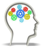 Human Brain 3D. Concept creativity gear gearing intelligence imagination Royalty Free Stock Photography