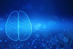 Human brain 2d illustration, Digital illustration of Human brain structure, Creative brain concept background, Concept of Thinking stock illustration