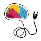 Human brain design. Royalty Free Stock Photo