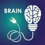 Human brain design. Stock Image