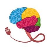 Human brain design. Royalty Free Stock Image