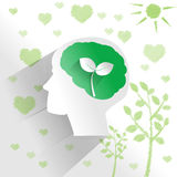 Human brain with environment thinking Stock Photography