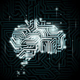 Human brain in the form of circuits. Royalty Free Stock Photography