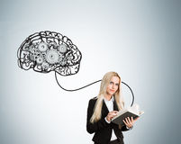 Human brain with gears Royalty Free Stock Photo