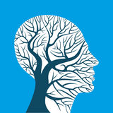 Human brain, green thoughts,. Human brain, green thoughts on nature Royalty Free Stock Photography