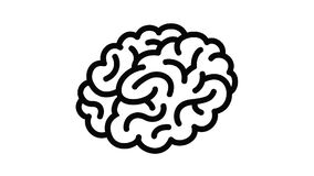 Human brain icon animation
