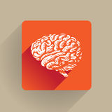 Human brain icon Stock Image