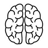 Human brain icon, outline style vector illustration