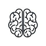 Human brain icon sign - vector stock illustration