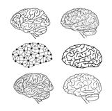 Human brain icon, vector illustration Royalty Free Stock Photos