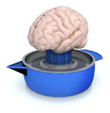 Human brain on juicer Royalty Free Stock Image