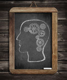 Human brain mechanism with cogs and gears Stock Photography