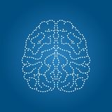 Human brain modern icon. Nervous system organ stock illustration