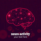 Human brain neural activity Royalty Free Stock Images