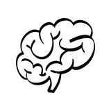 Human brain scribble Royalty Free Stock Photography