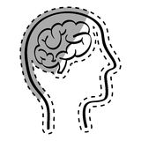 Human brain scribble Royalty Free Stock Photos