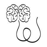 Human brain scribble Royalty Free Stock Photo