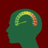 Speedometer brain Stock Image