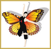 Human butterfly Stock Images